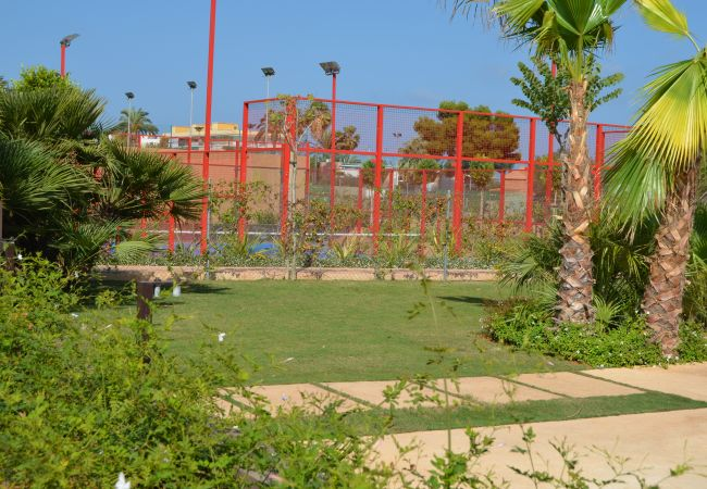 Sports centre where you can play tennis, padel and a gym