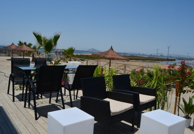 Spacious terrace in La Manga Apartment - Resort Choice