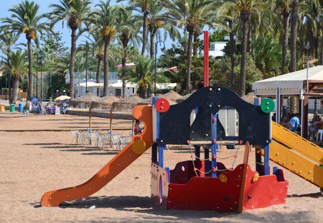 Children´s area at Mar de Cristal Beach to enjoy