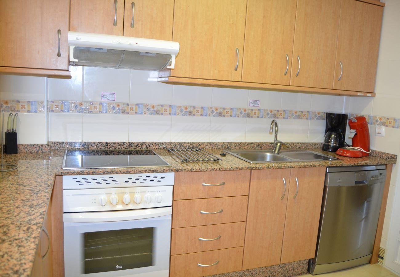A modern kitchen having latest kitchen ware - Resort Choice