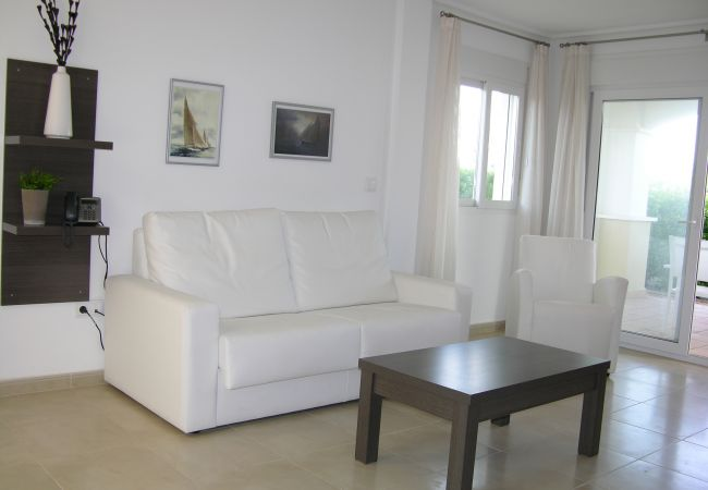 Luxurious living room of La Torre Golf Resort townhouse
