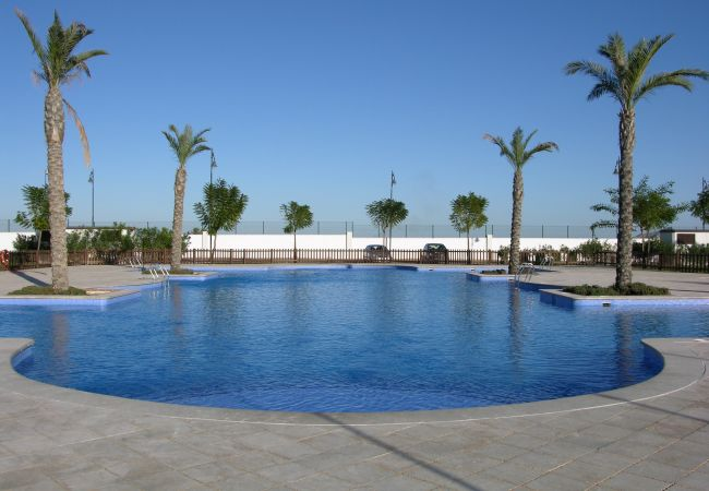Beautiful swimming pool of La Torre Golf Resort townhouse