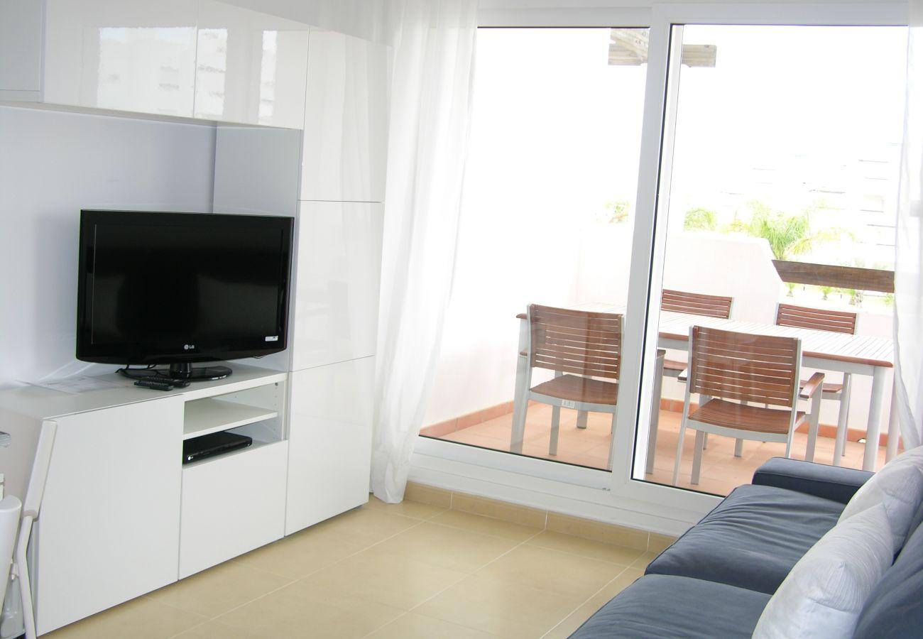 Beautiful living room of Las Terrazas de La Torre Golf apartment