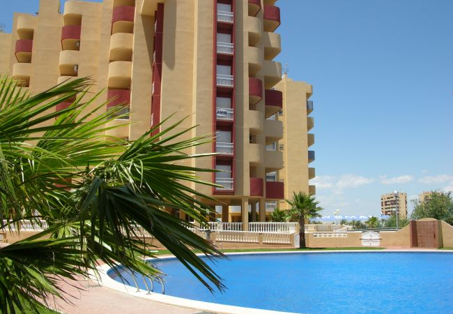 Large swimming pool in Los Miradores del Puerto complex - Resort Choice