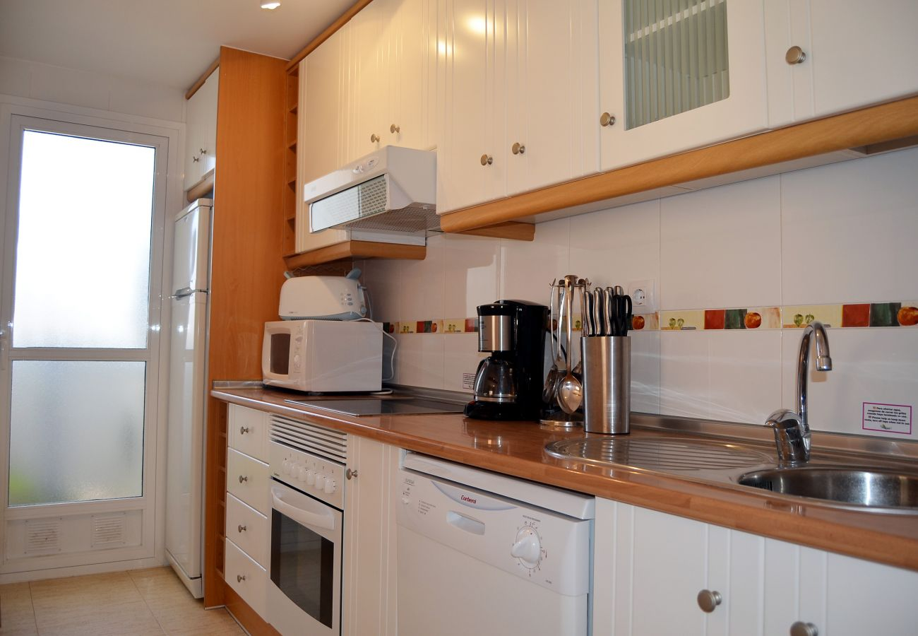 Specious and Luxurious Kitchen of Puertomar Apartment