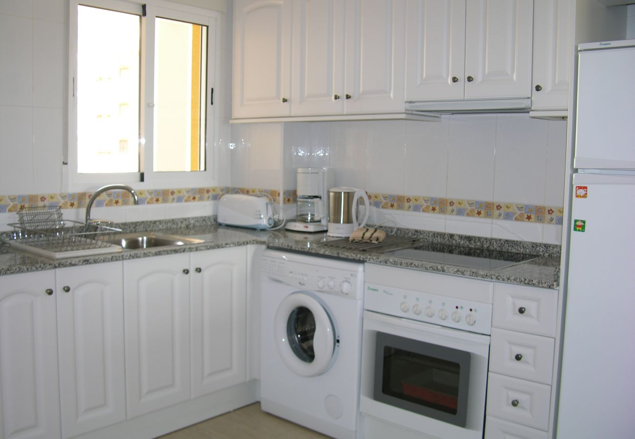 Fully Equipped Kitchen of Puertomar Apartment