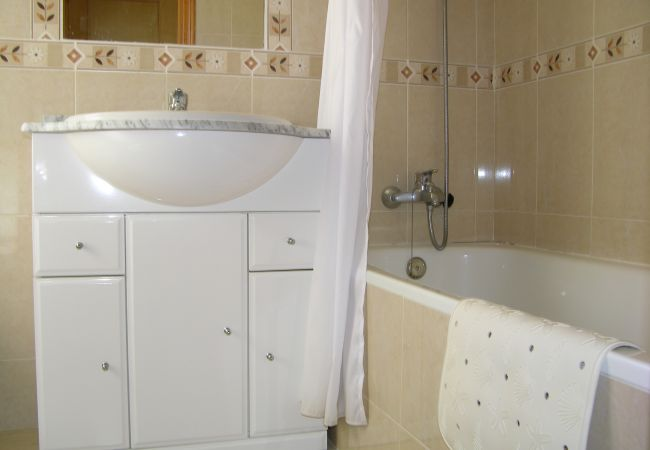 Fully Equipped Bathroom of Ribera Beach Apartment