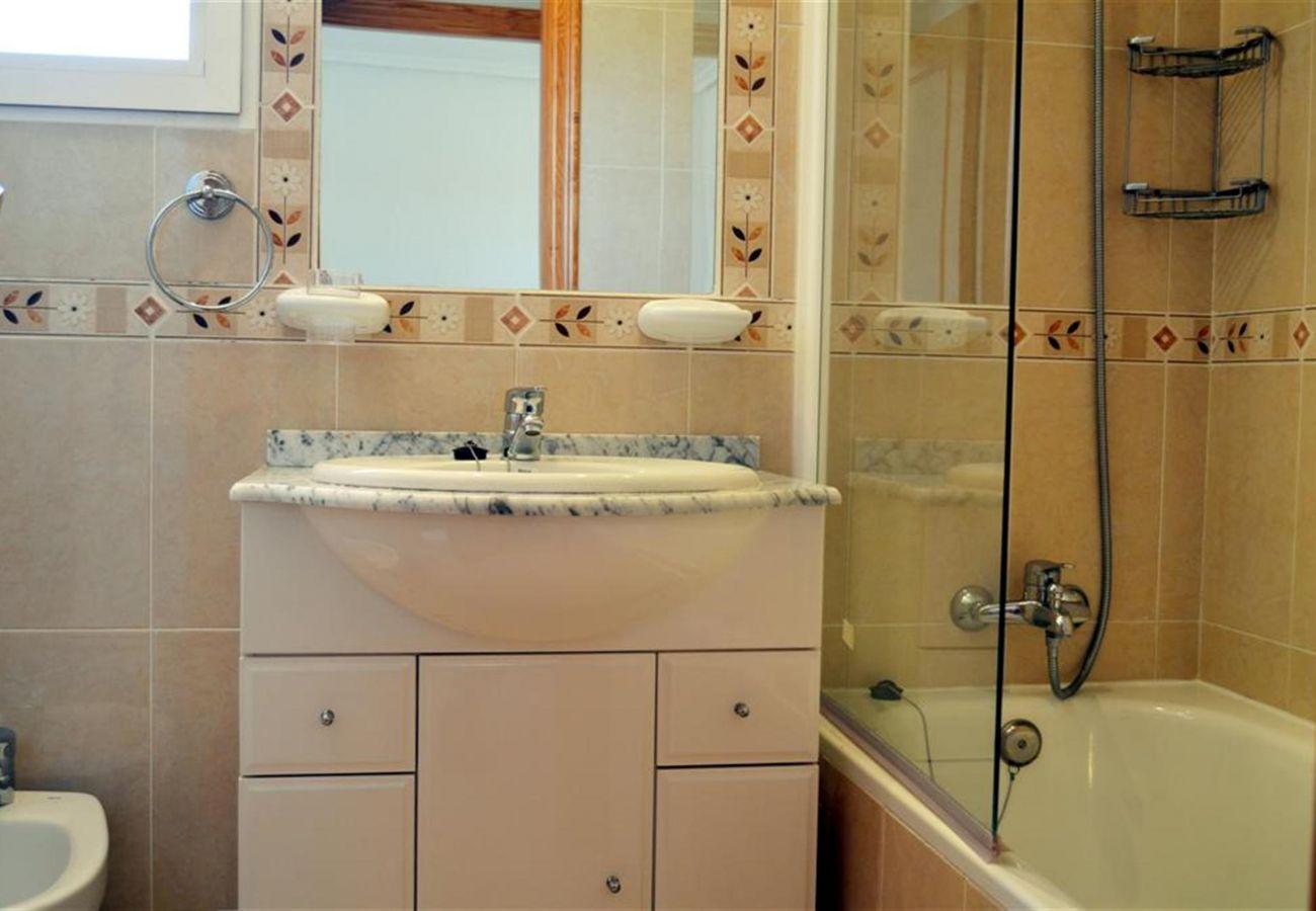 Fully Equipped Bathroom of Ribera Beach Apartment