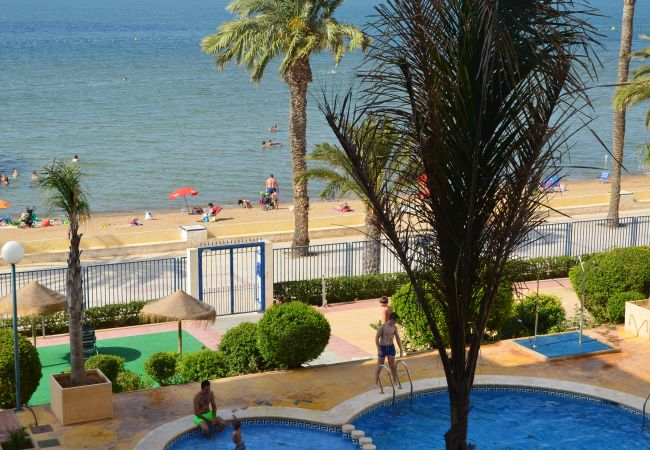 Lovely Beach View Swimming Pool of Verdemar Apartment at Playa Honda
