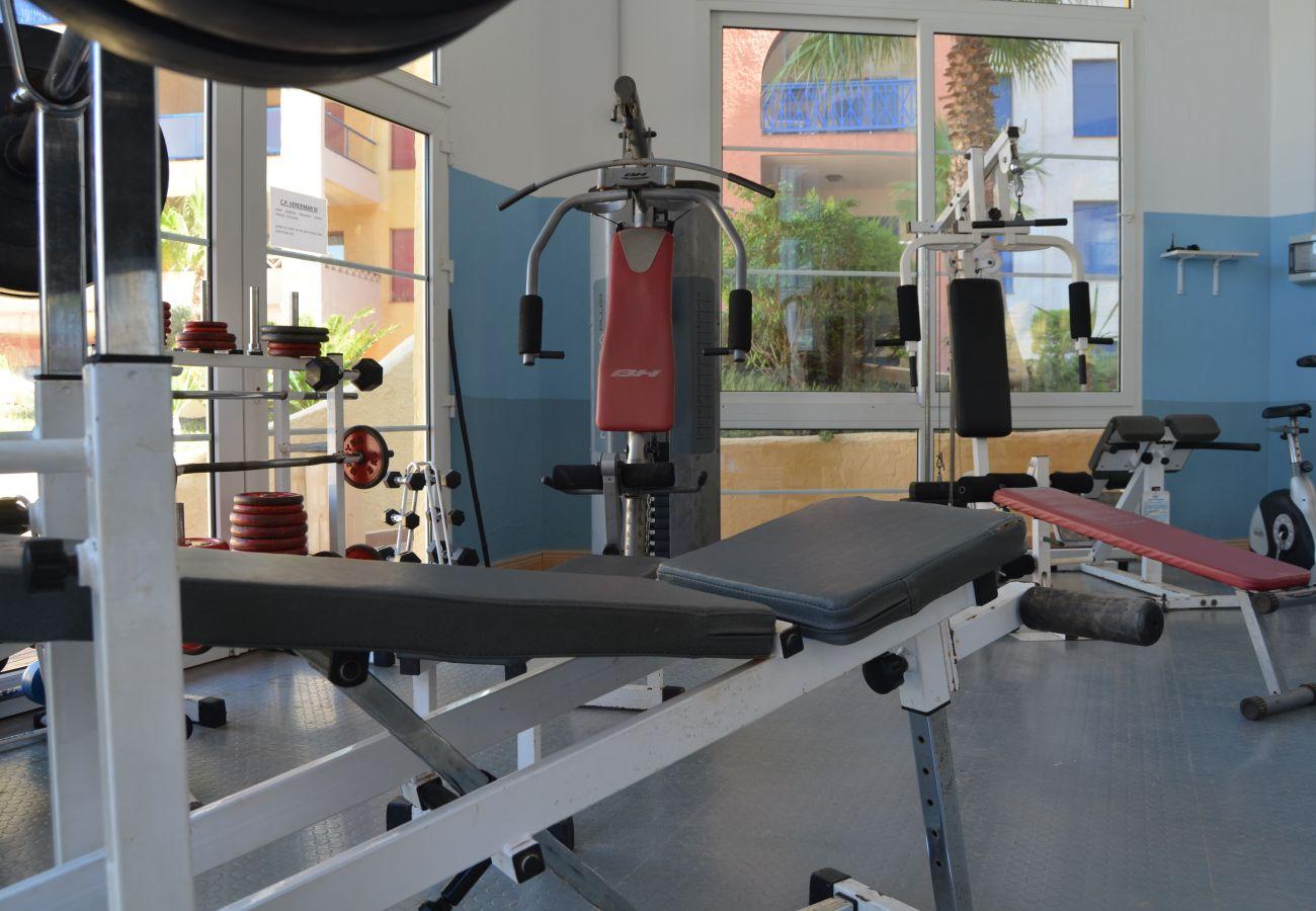 Beautiful Gym at Verdemar Apartment