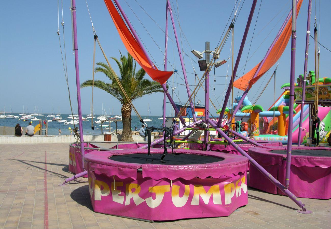 Children's summer fair in Santiago de la Ribera