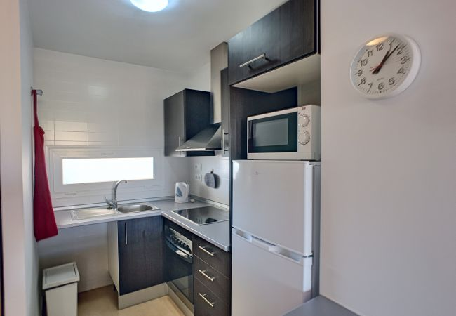 Modern kitchen well equipped at Las Terrazas Andrea apartment